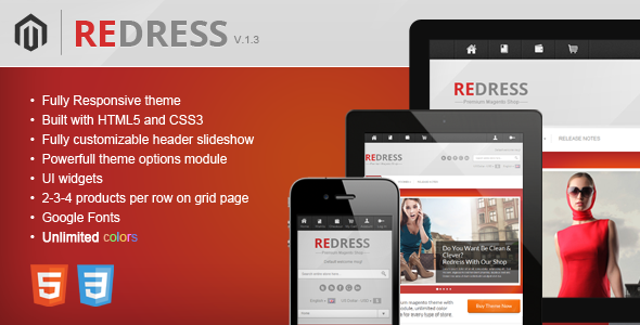 ThemeForest Redress Responsive Magento Theme 2909089