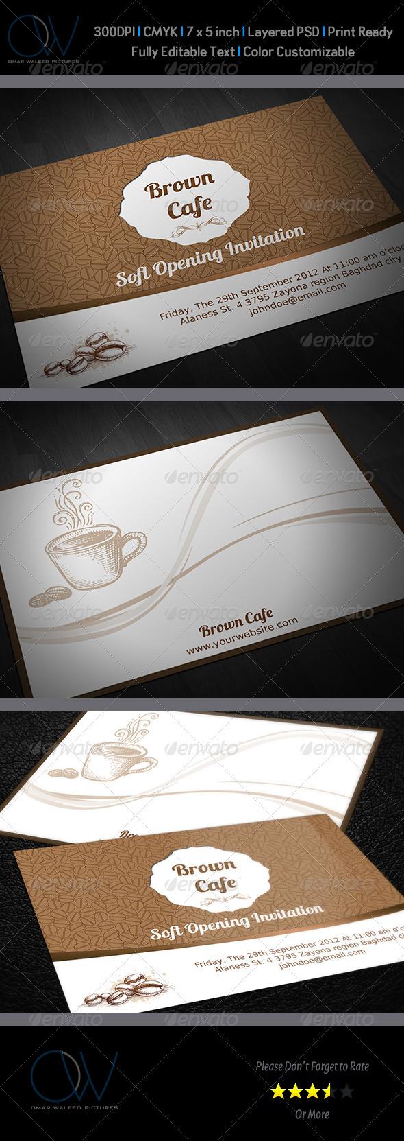 Cafe Invitation Card - Invitations Cards & Invites