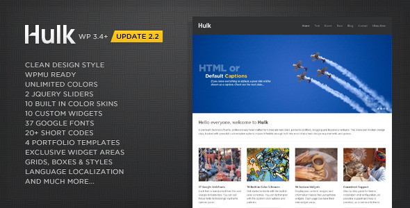 ThemeForest Hulk Business Portfolio Wordpress Theme 168754