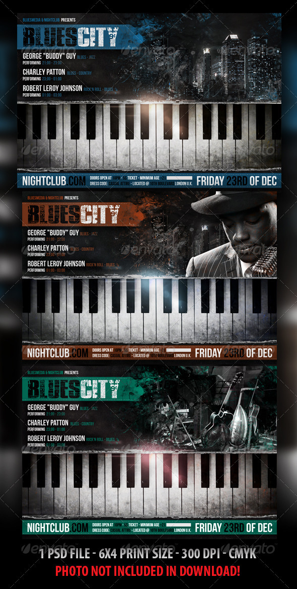 Blues / Jazz Concert Flyer - Concerts Events