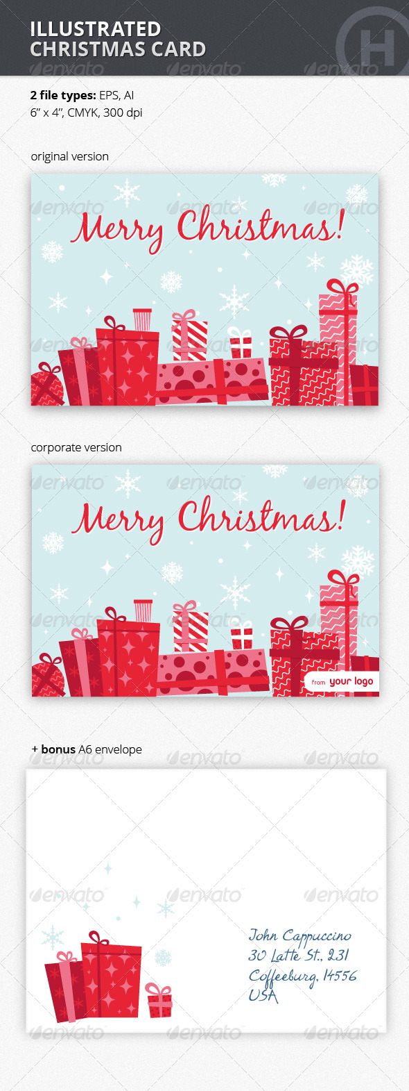 GraphicRiver Illustrated Christmas Card 3184526