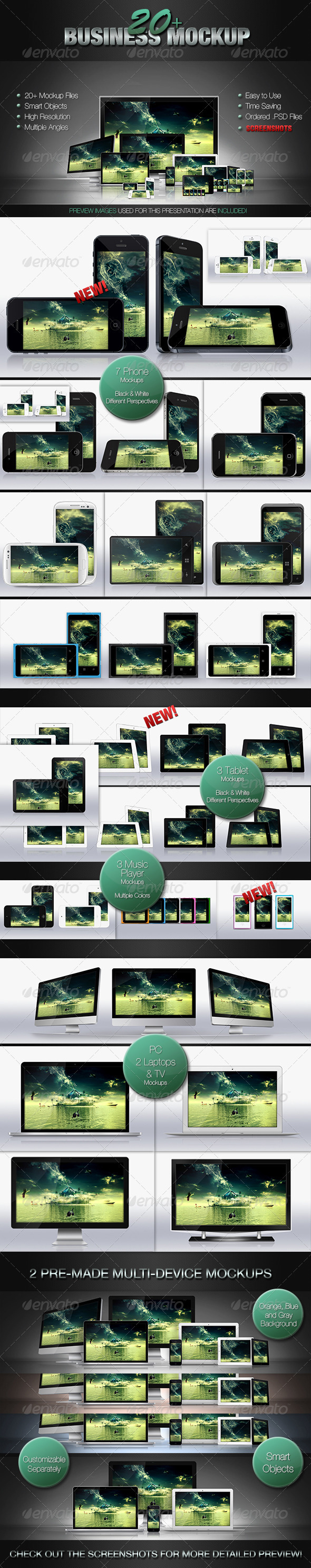 GraphicRiver 20& Business Mockups 3164601