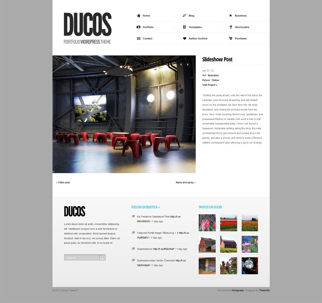 Ducos - Multi-purpose and Responsive Theme
