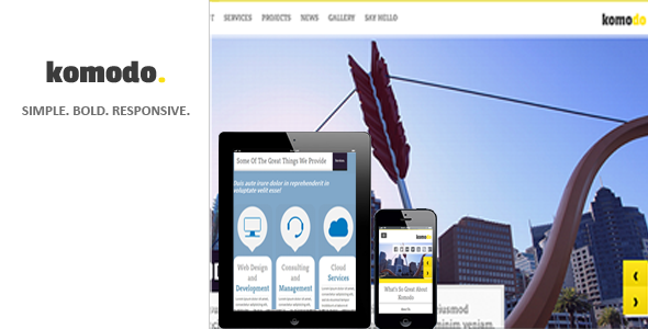 ThemeForest Komodo A Professional Template For The Creative 3188150