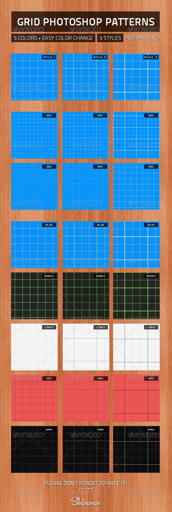 Amazing Grid Patterns - Miscellaneous Textures / Fills / Patterns
