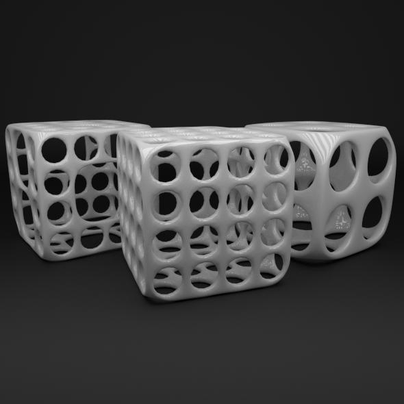 3DOcean White Cubes 3212697