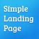 Simple Landing Page - ThemeForest Item for Sale