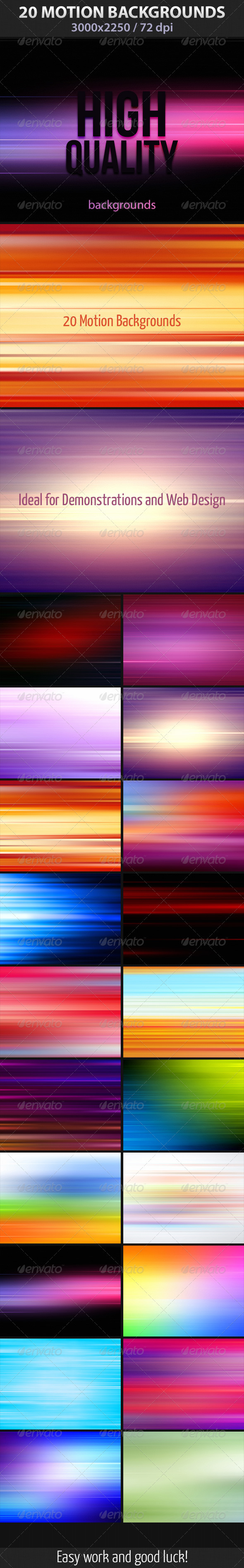 GraphicRiver - 20 Motion Backgrounds