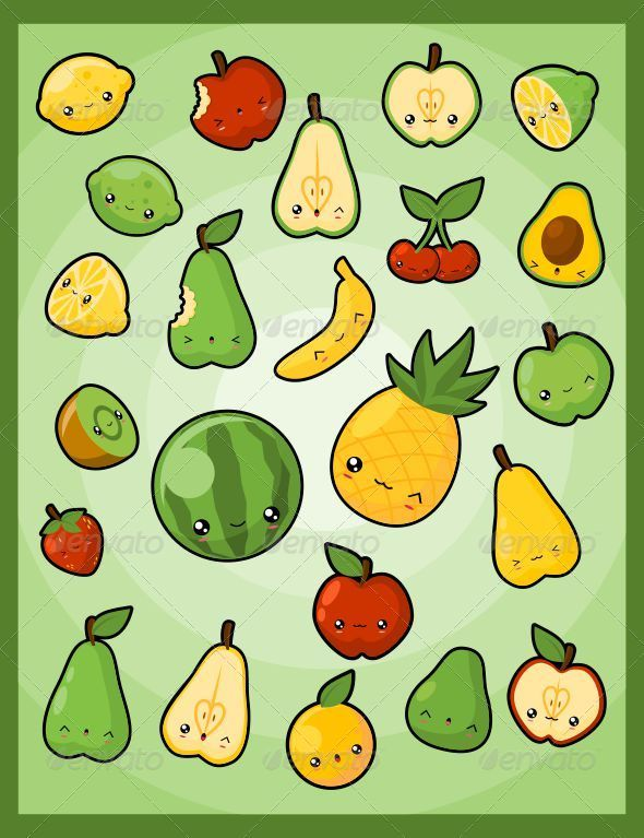 Kawaii Pack 5 Fruits