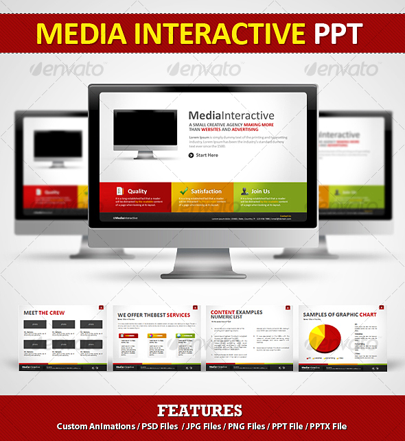 Media Interactive PPT - Power Point - Powerpoint Templates Presentation Templates