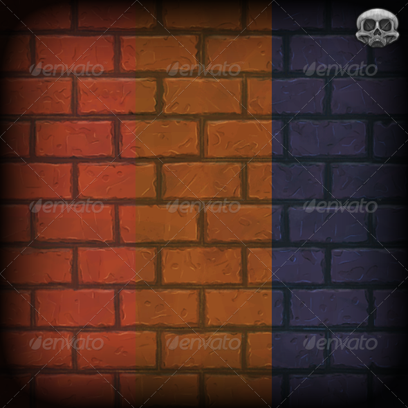 Hand Painted Brick Wall Texture Tile - 3DOcean Item for Sale