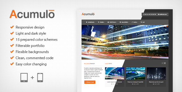 Acumulo HTML - Modern Business Template Download