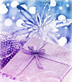 Purple blue Christmas gift with baubles decorations - PhotoDune Item for Sale