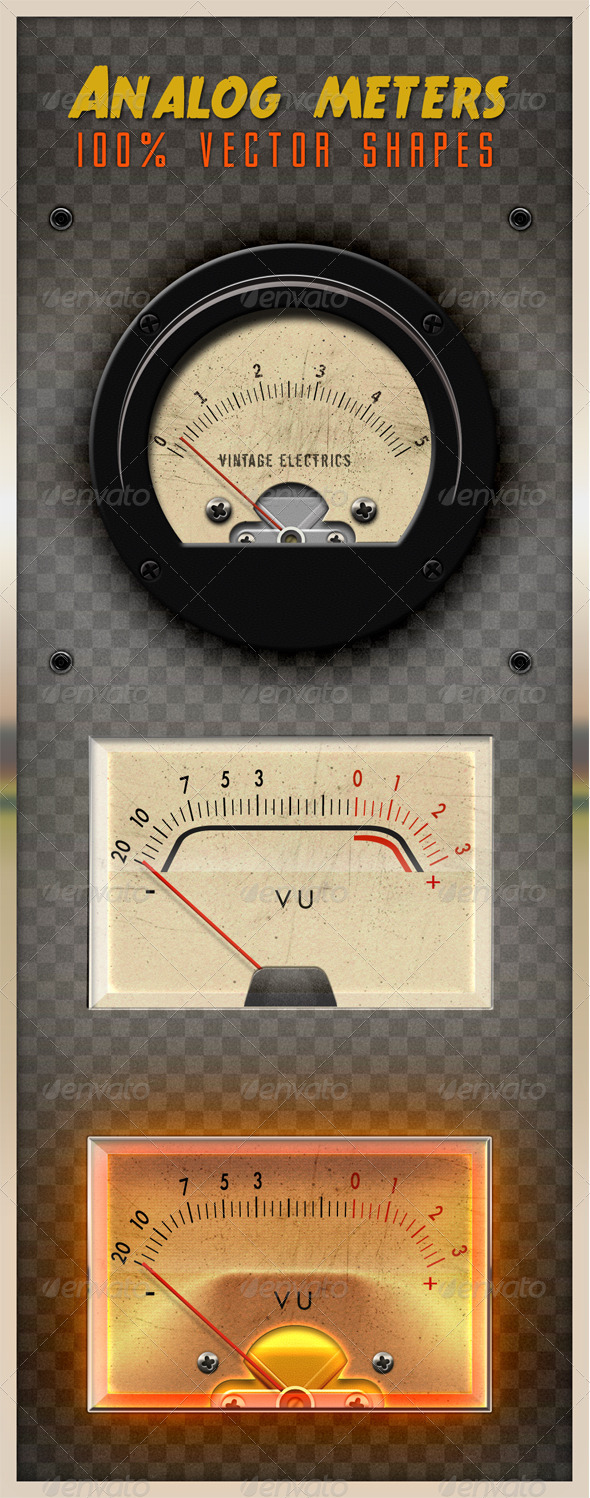 Analog Meters - Miscellaneous Web Elements