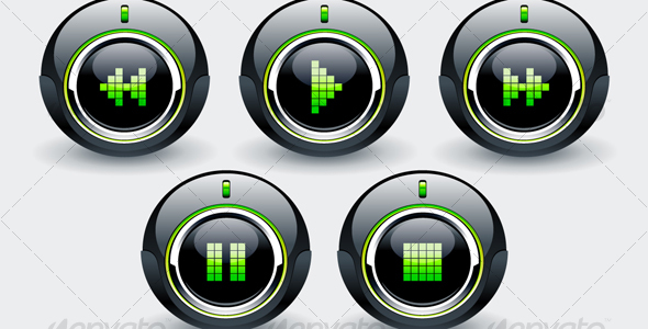 GraphicRiver High tech buttons 100371