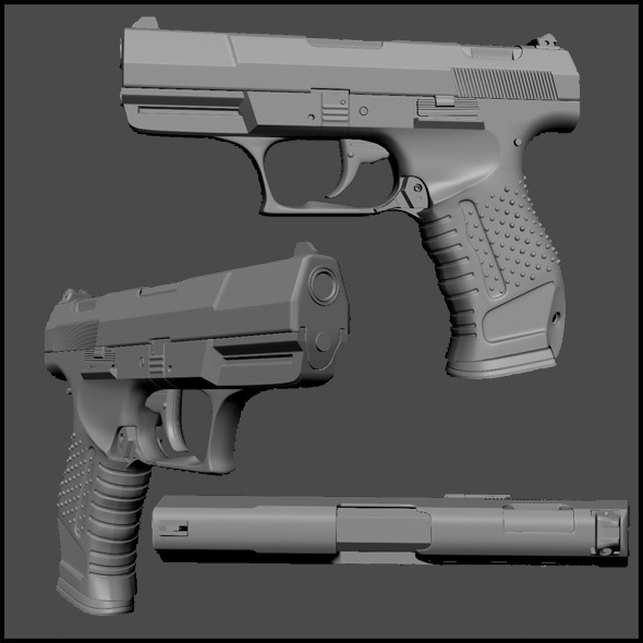 3DOcean High Poly Walther P99 3216887