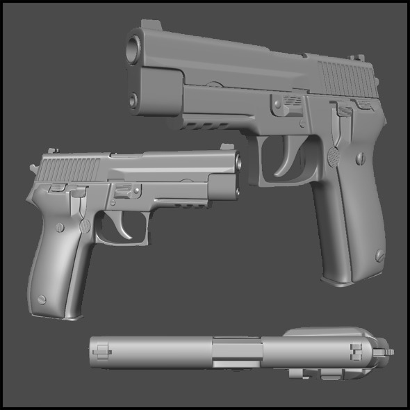 High Poly SIG 226 - 3DOcean Item for Sale