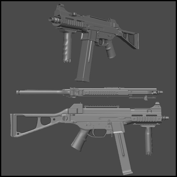 High Poly UMP 45 - 3DOcean Item for Sale