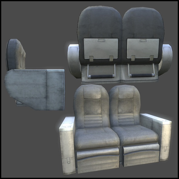 Aircraft Business Seats - 3DOcean Item for Sale