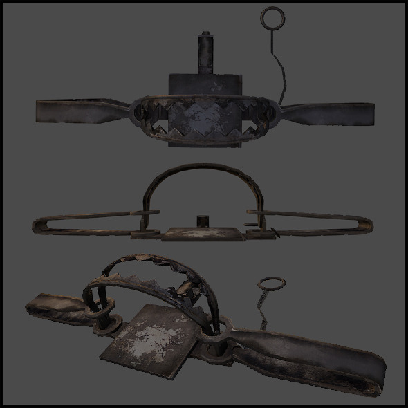 Steel trap - 3DOcean Item for Sale