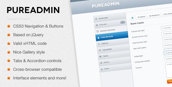 Pure Admin - Modern & Clean Admin Template - Admin Templates Site Templates