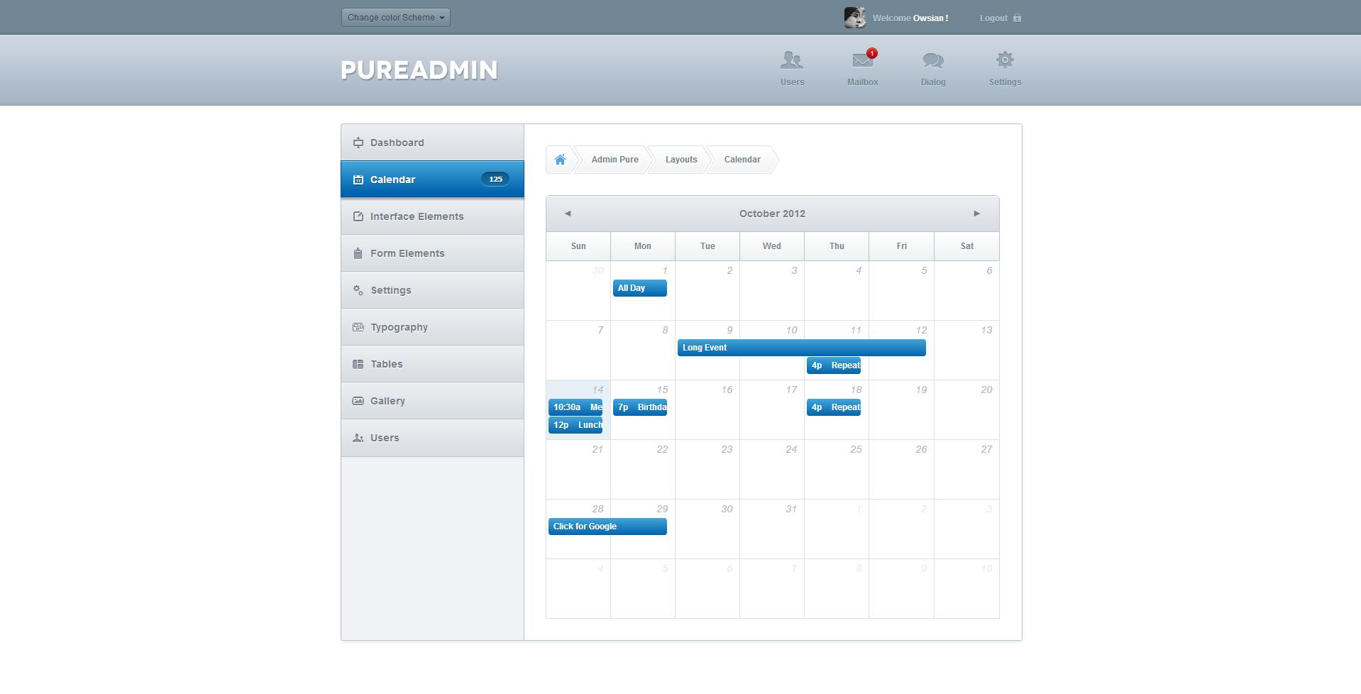 Pure Admin - Modern & Clean Admin Template