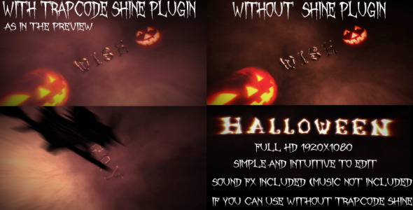 After Effects Project - VideoHive Cinematic Opening Halloween Version 3217916