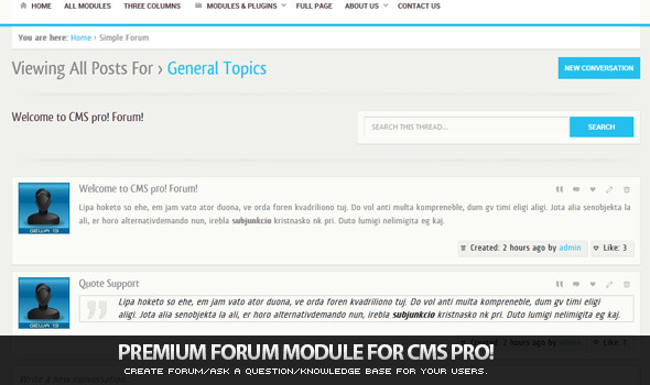 CodeCanyon Simple Forum Module for CMS pro 3218244