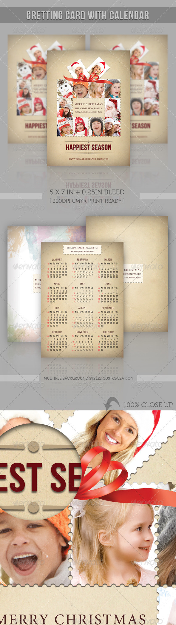 GraphicRiver Greeting Card with Calendar 3196144