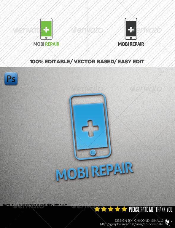 Mobi Repair Logo Template - Abstract Logo Templates