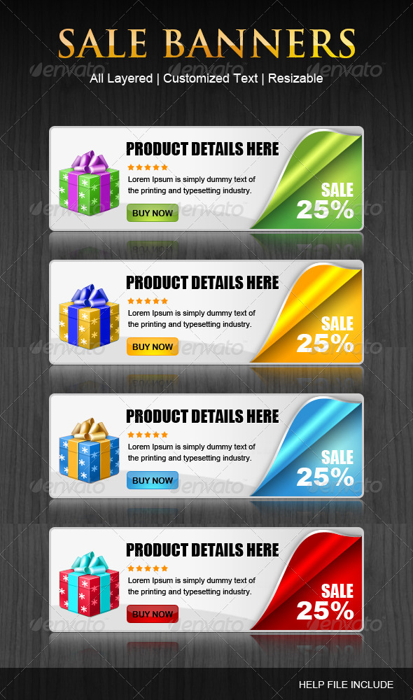 GraphicRiver Set of coupen Banners 3188852