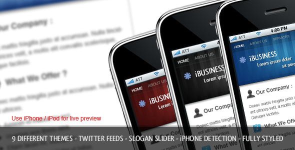 iBusiness iPhone Template - ThemeForest Item for Sale