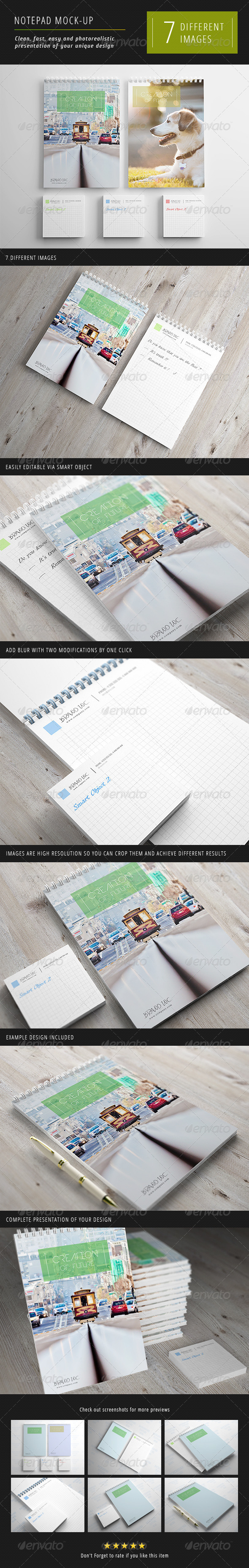 GraphicRiver Notepad Mock-Up 1 3220046