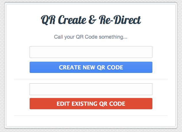 QuickLinks - Create and Re-Direct QR Codes