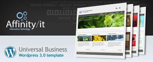 Universal Business Wordpress Template - Template advert :)