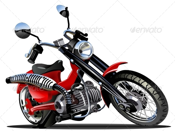 Vector Cartoon Motorcycle