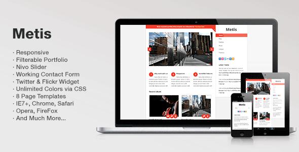 ThemeForest Metis Responsive Blog & Portfolio HTML Template 2555915