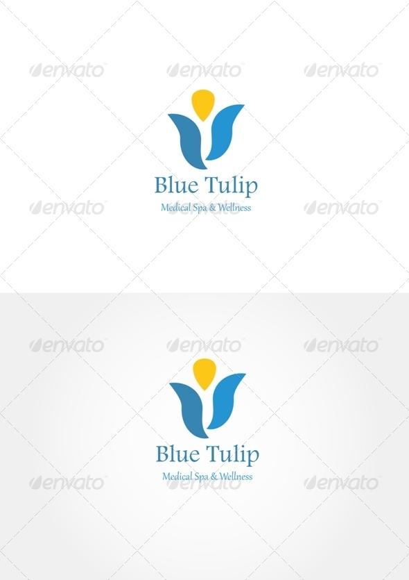 Blue Tulip Logo - Nature Logo Templates