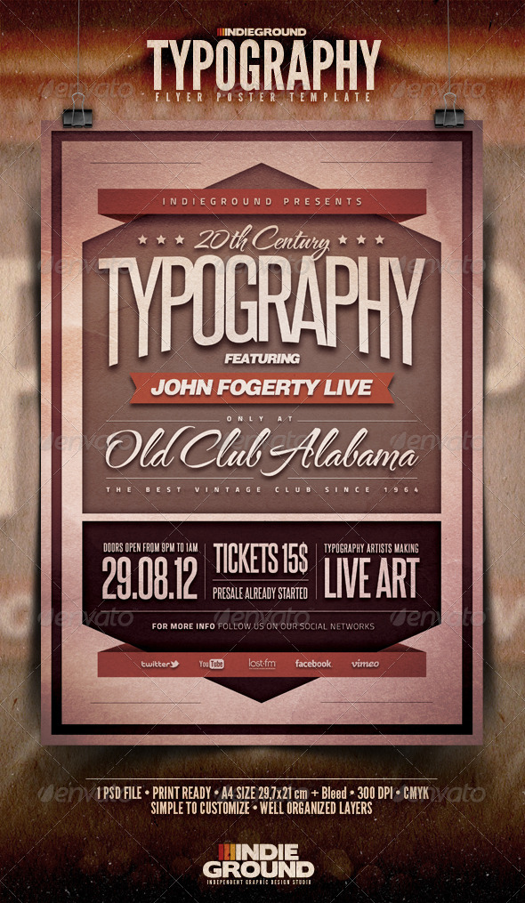 Typography Flyer/Poster - Events Flyers