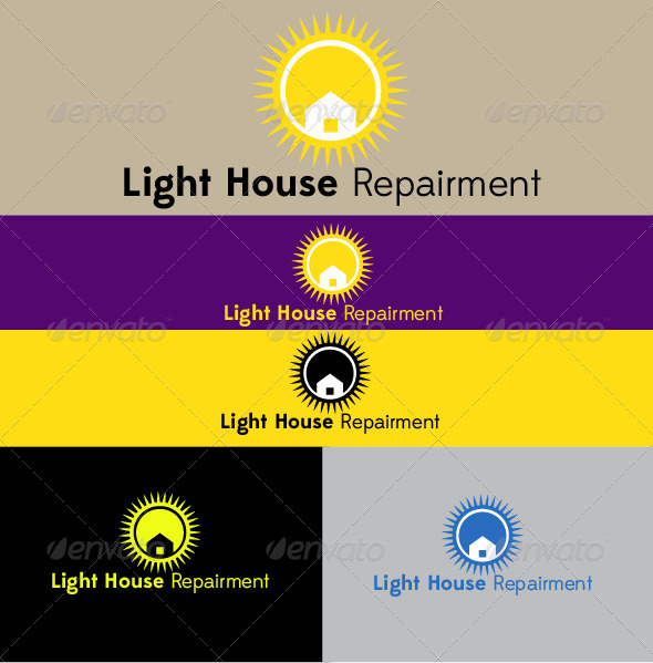 Light House Repairment - Buildings Logo Templates