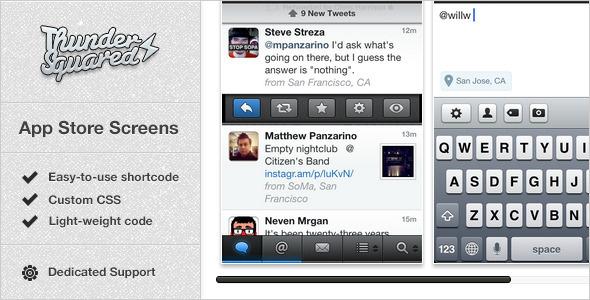 CodeCanyon App Store Screens App Screens for WordPress 2405169