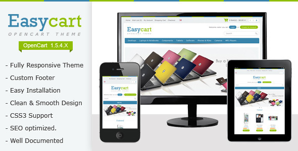 ThemeForest Easycart Responsive and Clean OpenCart Theme 2447945