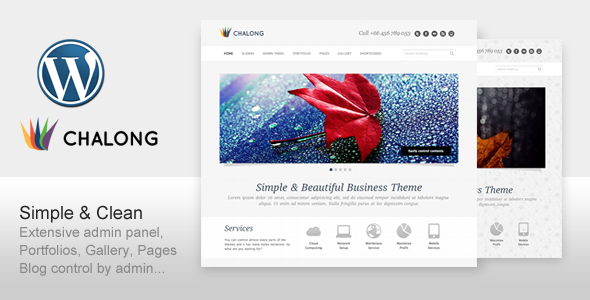 ThemeForest Chalong Simple and Clean for Business Portfolio 159780