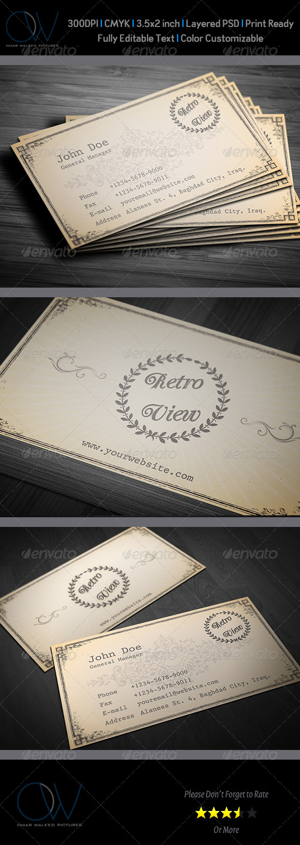 Reteo / Vintage Business Card - Retro/Vintage Business Cards