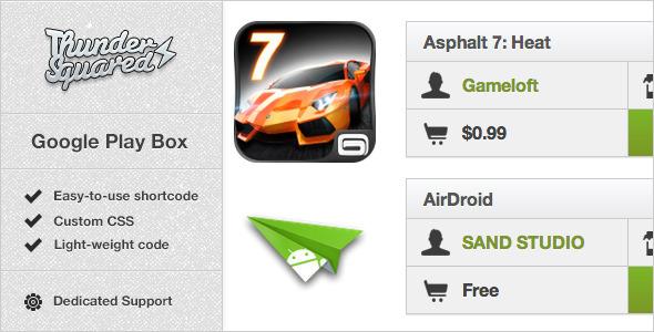 CodeCanyon Google Play Box Review boxes maker for WordPress 3224347