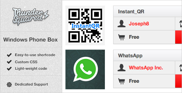 CodeCanyon Windows Phone Box App Review Boxes for WordPress 3224384