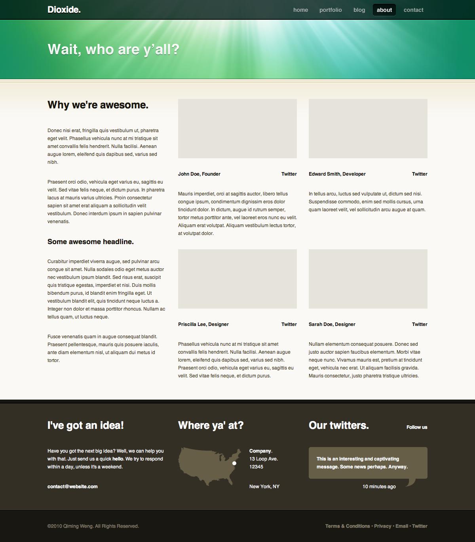 Dioxide Wordpress