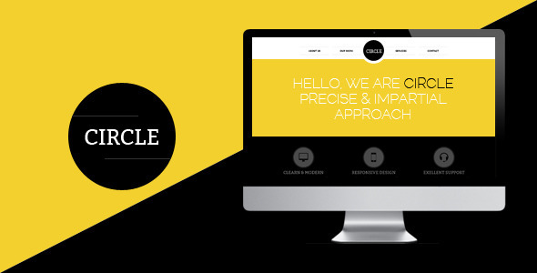 ThemeForest Circle one page PSD Template 3210613