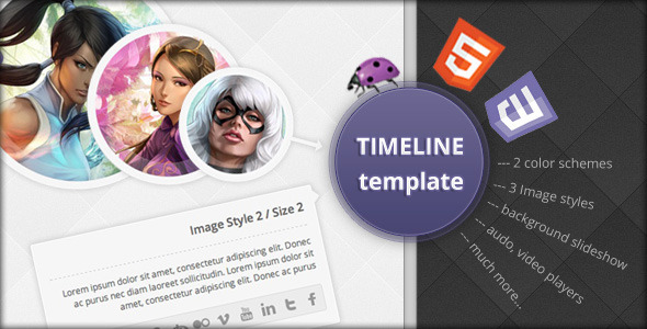 Timeline Template - Creative Site Templates