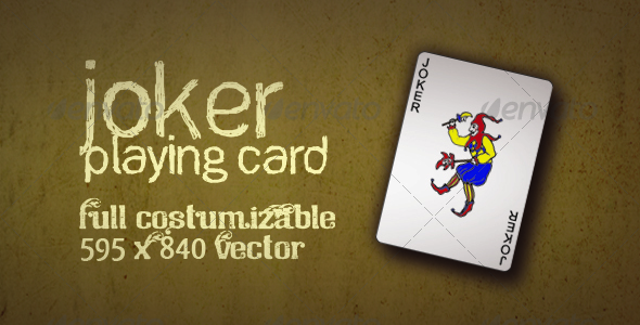 GraphicRiver Joker Playing Card Vector 113438